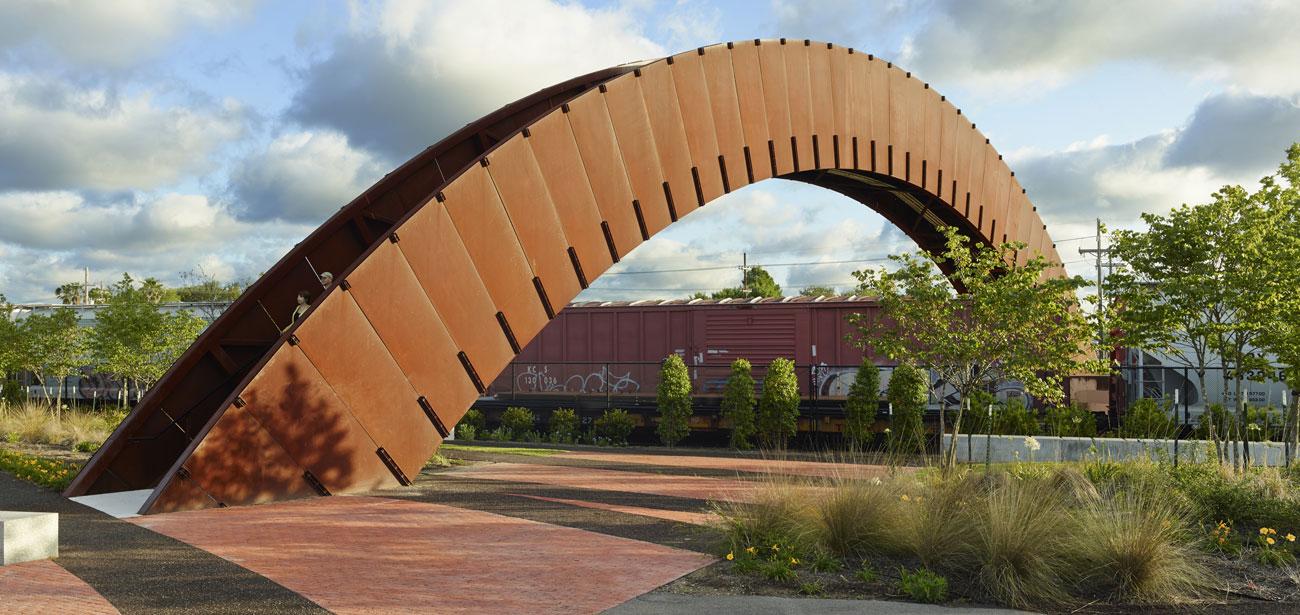 Crescent Park Piety St Footbridge